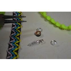Fermoir aimanté à embout magnétique argenté (vendu à l'unité)