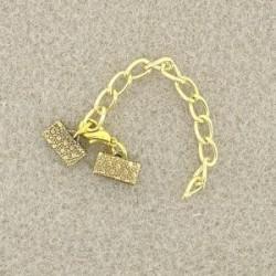 Fermoir à pincer (clip)  doré (1 pièce)