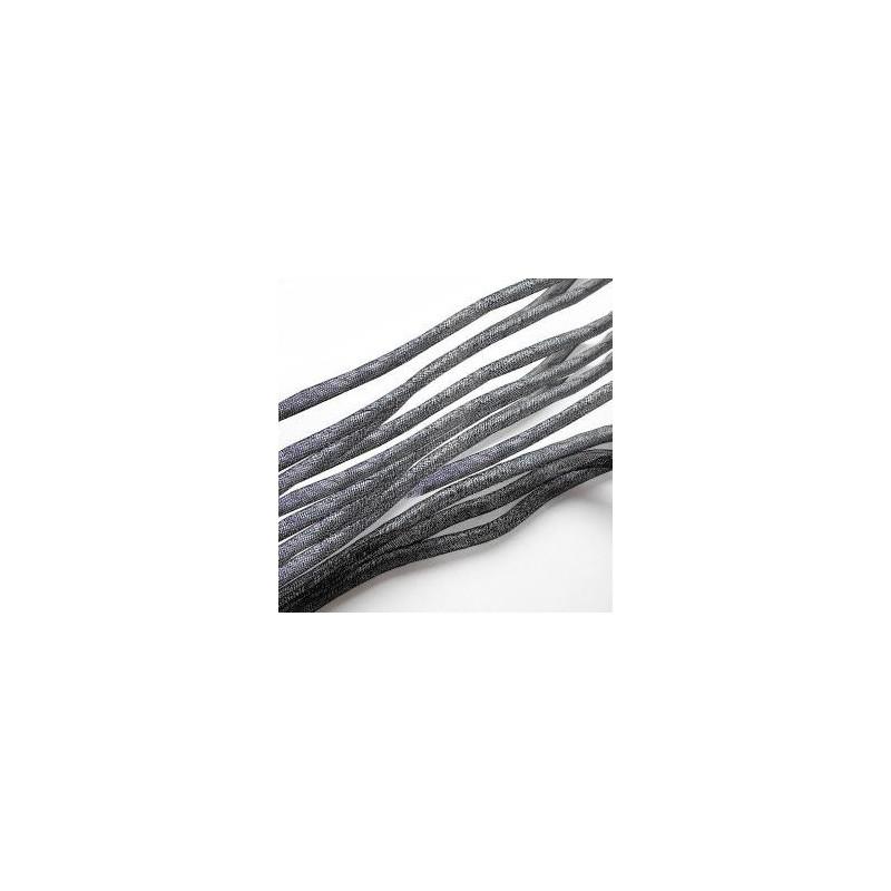 Fil Résille Tubulaire Noir diamètre 4 mm (Sachet : 1 m)