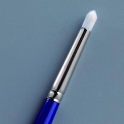 Pinceau Nylon Pochoir bout arrondi brosse Gr. 8 / ø 7,0 mm bleu