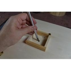 Horloge avec mécanisme & aiguilles Support bois à décorer