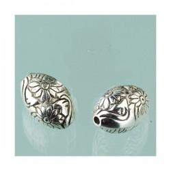 Perle antique  argentée  10 mm (vendue à l'unité)