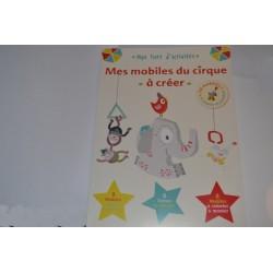 """Livre d'Activités Enfants """"Mes Mobiles du Cirque A créer"""" 24 éléments"""