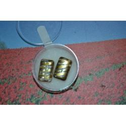 Perles  en verre vitrail rectangle  Effet doré plates 15 mm (sachet : 2 pièces)
