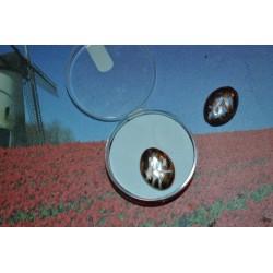 Perles  en verre vitrail ovale Rose/cuivrée plates 12 mm (sachet : 2 pièces)
