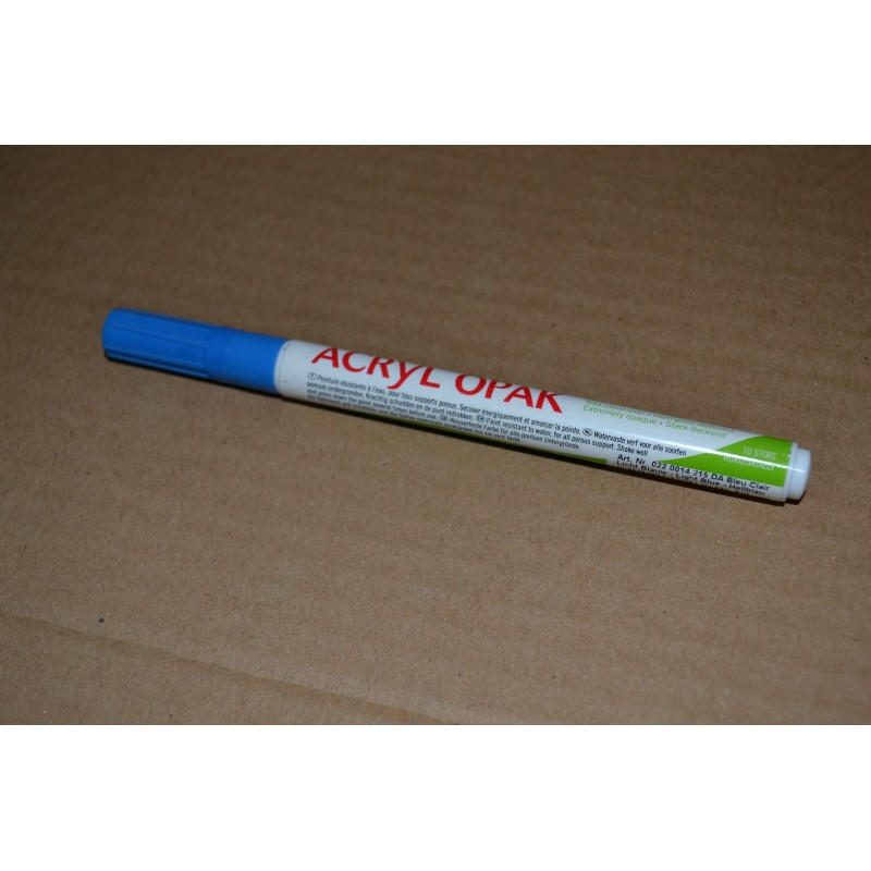 Feutre Peinture acrylique Pointe fine Bleu clair (vendu à l'unité)