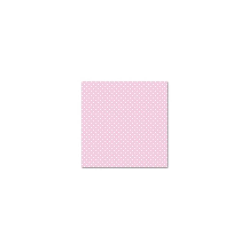Feutrine imprimée Rose  & Pois blancs  (vendue à l'unité)