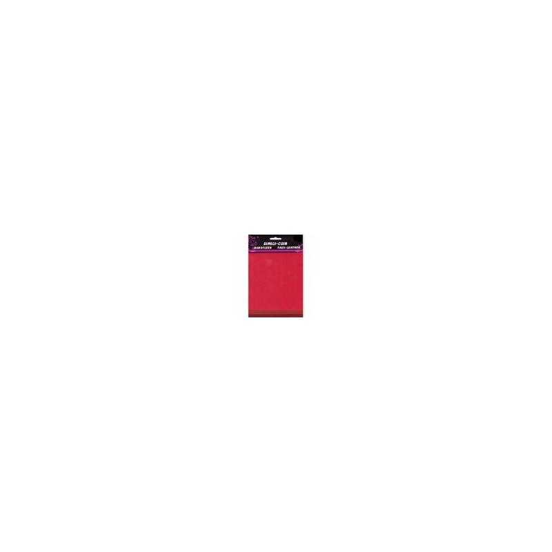 Feuille Simili Cuir ROUGE 3 feuilles, dégradé de couleur Rouge/Garnet/Rouille