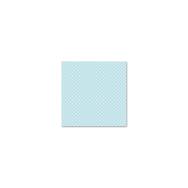 Feutrine  imprimée Fond Bleu  & Pois blancs  (vendue à l'unité)