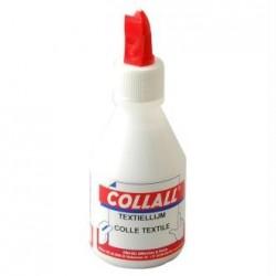 """Colle blanche Spécial Textile  """"Collall""""  transparente au séchage (110 ml)"""