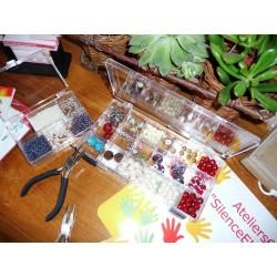 Boîte Rangement perles et bijoux plastique 7 compartiments