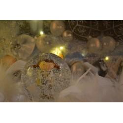 Poudre Pailletée extra fine, paillettes coloris Doré, tube : 3 gr