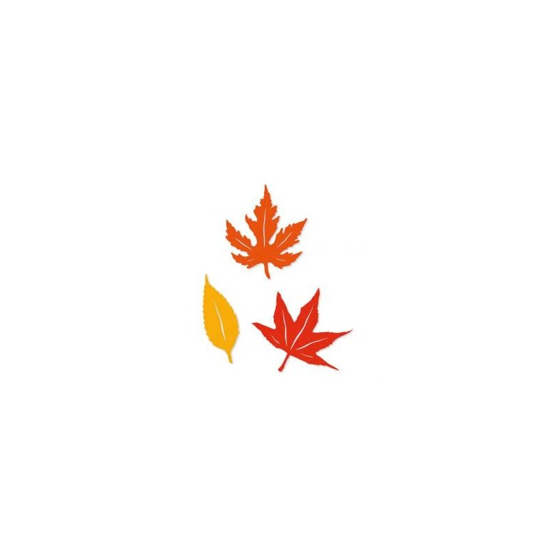 Feutrine Mix des 4 saisons Feuilles Jaune & Orange (Sachet 6 ornements)