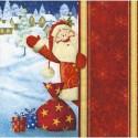 Serviette en papier motif : Père Noël   (vendue à l'unité)