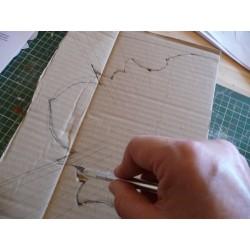 Compas Cutter de découpe, cutter circulaire, Ø 1 à 15 cm