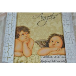 """Moule thermoformé motifs : """"Anges""""  4 petits anges et 3 petits nuages"""