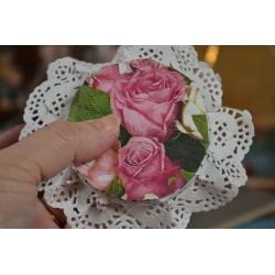 """Serviette en papier """"Rose rouge"""" (vendue à l'unité)"""