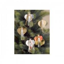 Pinces à linge Bois Support à tête boule, pour Décorations de Sapin (sachet économique de 10 pièces)