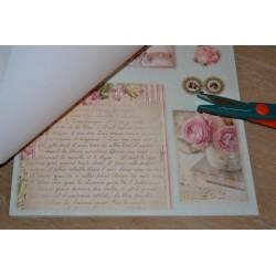 Planche stickers papillons pailletés transparents contours dorés sur  fond pailleté blanc, pour Carterie & Embellissements