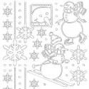 Planche stickers Peel off  flocons et Bonhomme de Neige