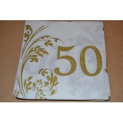 Serviette en papier : Nombre 50 (vendue à l'unité)