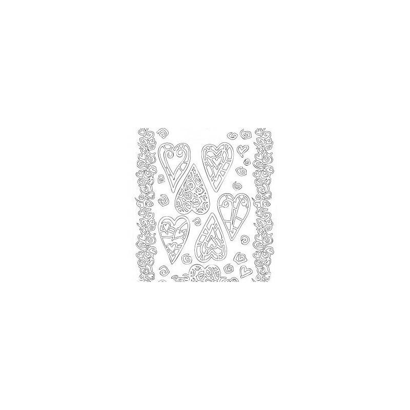 Planche stickers Peel off  Coeurs élancés Blancs pour Carterie, Embellissements, & Manucure