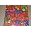 Serviette en papier  fruits rouges 33x30cm à l'unité
