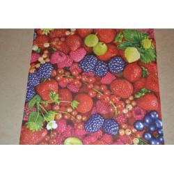 Serviette en papier : fruits rouges (vendue à l'unité)