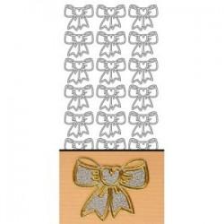 Planche stickers  Noeuds Argentés pour Carterie ou embellissements éphémères