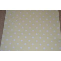 Serviette en papier : petits pois couleur jaune (vendue à l'unité)