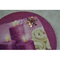 Planche stickers motifs Fleurs miniatures muticolores Arc-en-Ciel (13x 23 cm)