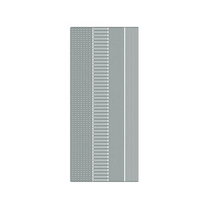 Planche stickers Mix Lignes fantaisies et ondulées dorées (13x 23 cm)