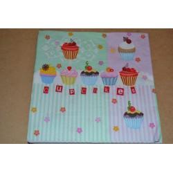 Serviette en papier : Cupcakes (vendue à l'unité)