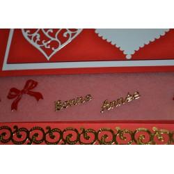 Planche stickers Peel Off   Noeuds Rouges pour carterie embellissements