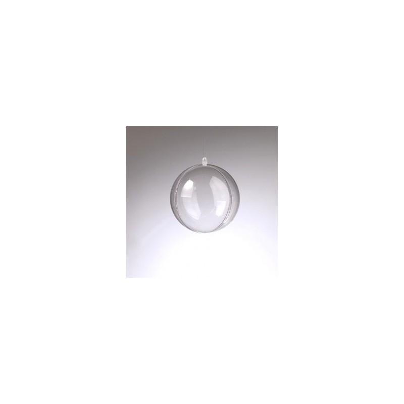 Boule décorative en plastique diamètre 10 cm, séparable en 2 parties