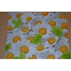Serviette en papier : marguerites (vendue à l'unité)