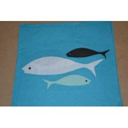Serviette en papier : poissons (vendue à l'unité)