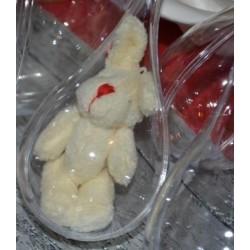 """Mini Lapin peluche couleur """"Blanc"""" (vendu à l'unité)"""