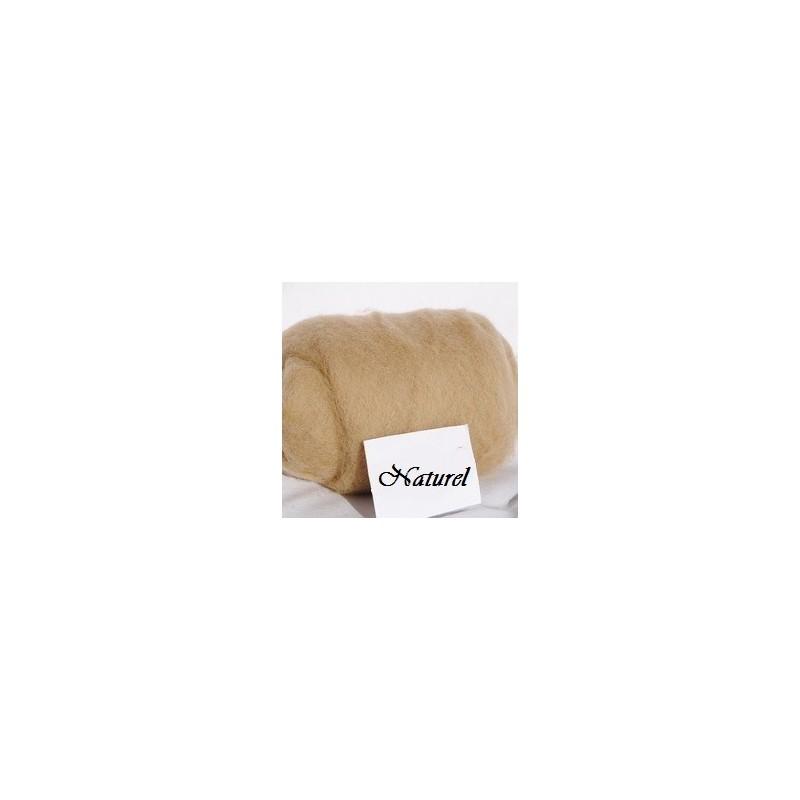 Laine Cardée à Feutrer 50 gr Naturel Crème LNK5010