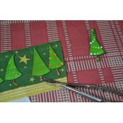 Serviette Dessins et frises de NOEL (vendue à l'unité) rouge et verte