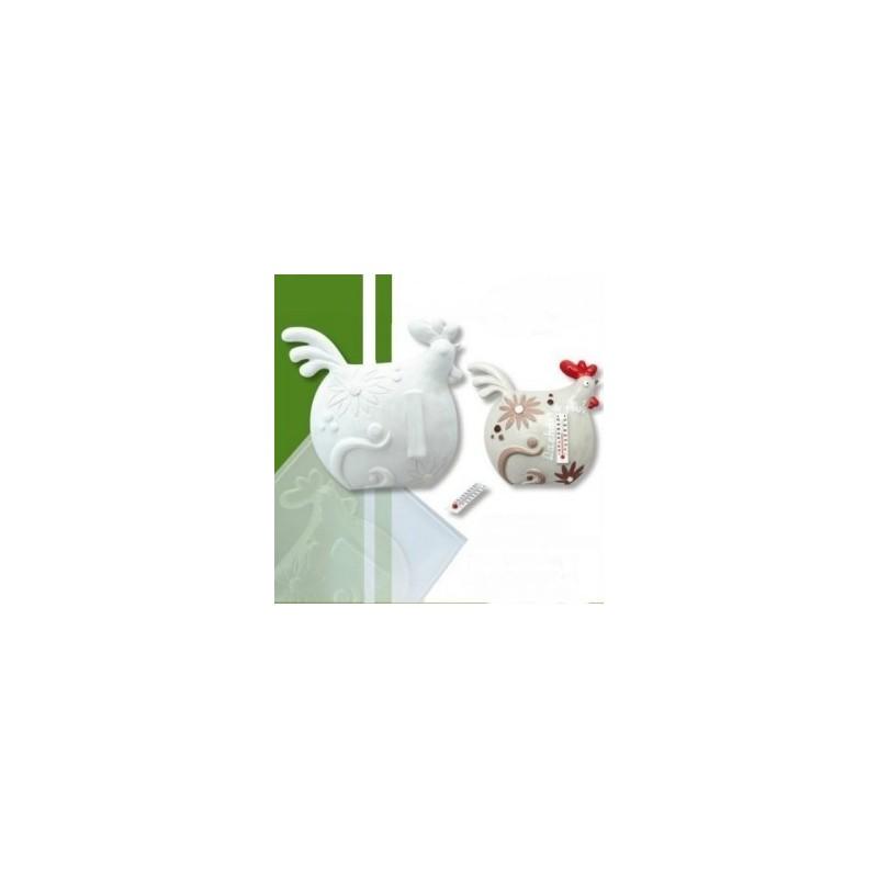 Moule Poule Poulette pour fabrication Thermomètre ou support à suspendre