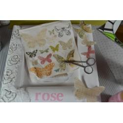 Serviette Dessins Naissance Fille rose (vendue à l'unité)