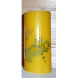 Planche Transferts pour bougie, verre et plastique Motifs :   Fleurs en relief