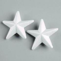 Etoile en  polystyrène à customiser Petit modèle 11.5 cm (sachet 2 pièces )