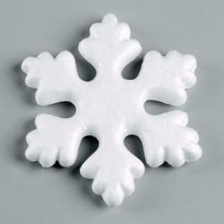 Flocon de Neige en  polystyrène 14.5 cm (Vendu à l'Unité) à customiser