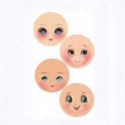Plaque de Mousse thermoformable Imprimé Visages (4 visages moyens différents)