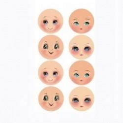 Plaque de Mousse thermoformable Imprimé Visages (8 mini visages différents)