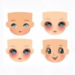 Plaque de Mousse thermoformable Imprimé Visages (4 grands visages différents)