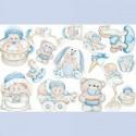 Plaque de Mousse thermoformable Imprimé Oursons bleus Motifs Bébé (20 cm x 30 cm)