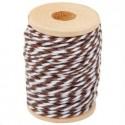 Ficelle décorative Twine multi services bicolore coton Blanc/Marron  15 m (vendue avec bobine bois)